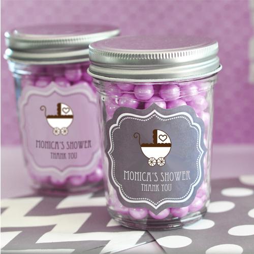 baby shower mini mason jars KPEB2310B