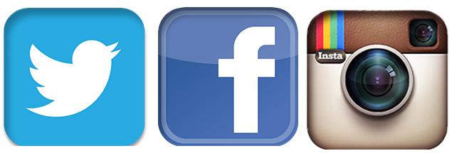 social twitter youtube fb instagram