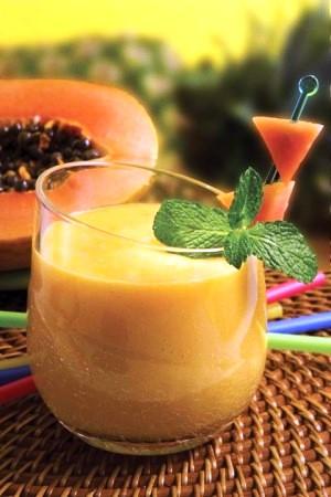 licuado de papaya pina sandia y platano