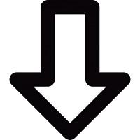 flecha hacia abajo indica 318 25391